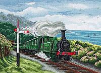 """PCE885  """"Сцена с поездом (Train Scene)"""" ANCHOR. Набор для вышивания нитками"""