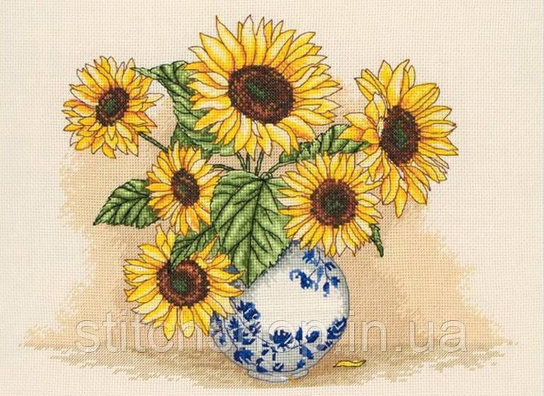 "PCE887  ""Ваза с подсолнухами (Sunflower Vase)"" ANCHOR. Набор для вышивания нитками"
