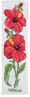 "PCE5005  ""Закладка Гибискус (Hibiscus Bookmark)"" ANCHOR. Набор для вышивания нитками"