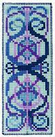 "PCE5012  ""Закладка Арт нуво (Art Nouveau Bookmark)"" ANCHOR. Набор для вышивания нитками"