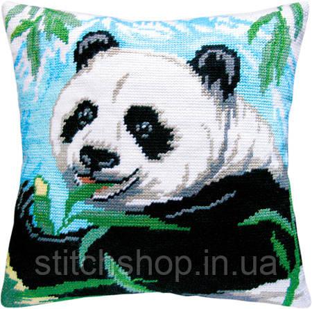 V-07 Панда. Подушка. Чарівниця. Набор для вышивания нитками на канве с нанесенным рисунком