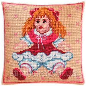 V-29 Кукла. Подушка. Чарівниця. Набор для вышивания нитками на канве с нанесенным рисунком