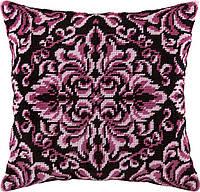 V-88 Королевская роза. Подушка. Чарівниця. Набор для вышивания нитками на канве с нанесенным рисунком