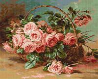 B547 Корзина с розами. Luca-S. Набор для вышивания нитками