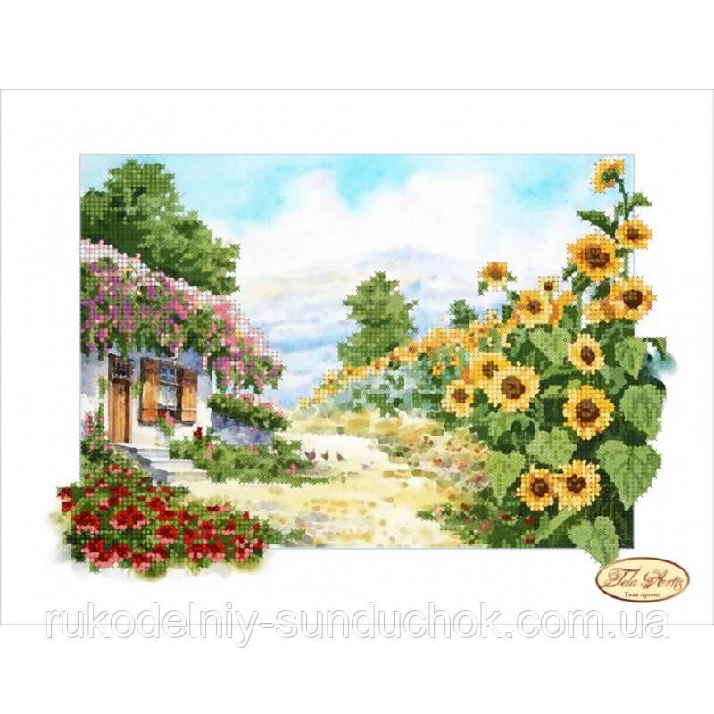 Схема для вышивания бисером Tela Artis Сельский пейзаж ТА-052