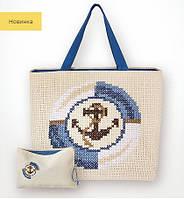 BAG003 Якорь (синий). Luca-S. Набор для вышивания нитками
