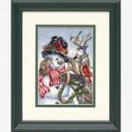 """08824 """"Снеговик и олень//Snowman & Reindeer"""". DIMENSIONS. Набор для вышивания нитками"""