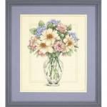 "35228 ""Цветы в высокой вазе//Flowers in Tall Vase"". DIMENSIONS. Набор для вышивания нитками"