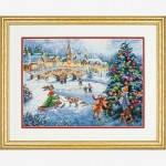 """70-08919 """"Зимние праздники//Winter Celebration"""". DIMENSIONS. Набор для вышивания нитками"""