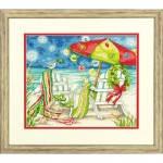 """70-08948 """"Рождественские пляжные стулья//Christmas Beach Chairs"""" DIMENS. Набор для вышивания нитками"""