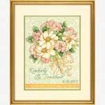 """70-35275 """"Свадебный букет//Wedding Record Bouquet"""". DIMENSIONS. Набор для вышивания нитками"""