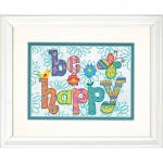 """70-65115 """"Будь счастлив//Be Happy"""". DIMENSIONS. Набор для вышивания нитками"""