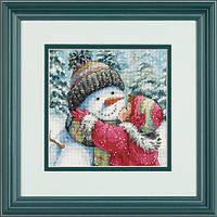"""70-08833 """"Поцелуй для снеговика//A Kiss for Snowman"""". DIMENSIONS."""