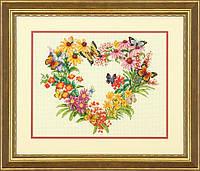 """70-35336 """"Венок из полевых цветов//Wildflower Wreath"""". DIMENSIONS."""