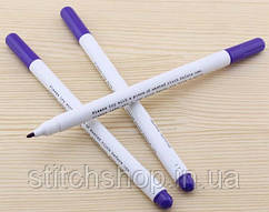 Маркер для рисования по ткани самоисчезающий (48-72 часов), фиолетовый. Adger.
