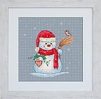 B1049 Снеговичёк. Luca-S. Набор для вышивания нитками