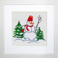B1069 Снеговичёк. Luca-S. Набор для вышивания нитками