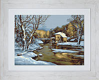 B523 Зимний день. Luca-S. Набор для вышивания нитками