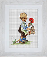 B1102 Мальчик. Luca-S. Набор для вышивания нитками