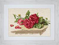 BL22411 Красные розы. Luca-S. Набор для вышивания нитками