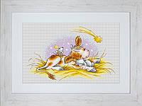 B1057 Рождественская история. Luca-S. Набор для вышивания нитками
