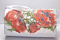 КЛ-041 Сумочка. Барвиста Вишиванка. Заготовка для вышивки бисером или нитками.