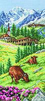 PCE0811 Anchor Cross Swiss Alpine Landscape. Anchor. Набор для вышивания нитками