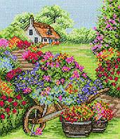 PCE749 Anchor Cross Stitch Floral Wheelbarrow. Anchor. Набор для вышивания нитками