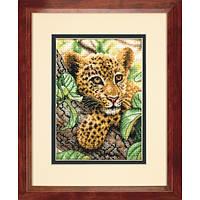 "70-65118 ""Детёныш леопарда//Leopard Cub"" DIMENSIONS Gold Collection. DIMENSIONS. Набор для вышивания нитками"