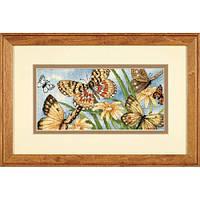 "65055 ""Виньетка с бабочками//Butterfly Vignette"" DIMENSIONS Gold Collection. DIMENSIONS. Набор для вышивания нитками"