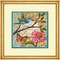 """70-65103 """"Птичья почта//Bird Poste"""" DIMENSIONS Gold Collection. DIMENSIONS. Набор для вышивания нитками"""