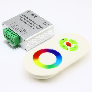 Контроллер 12V RGB для светодиодной ленты 216Вт 18А-радио-5 Touch белый