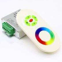 Контроллер 12V RGB для светодиодной ленты 216Вт 18А-радио-5 Touch белый, фото 3