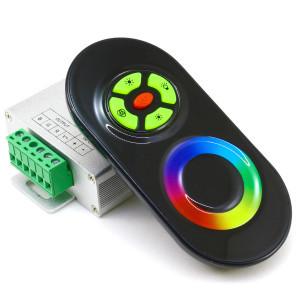 Контроллер 12V RGB для светодиодной ленты 216Вт 18А-радио-5 Touch черный