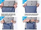 Сумка водонепроницаемая ProSac Blue 15L, фото 4