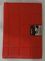 Обложка для паспорта из натуральной кожи. Красный, фото 1
