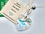 Подвеcка Сердце с кристаллом Swarovski, фото 2
