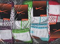 ORIGINAL Носки женские х/б спортивные демисезонные Nike, Турция, цветное ассорти, средние, 10034