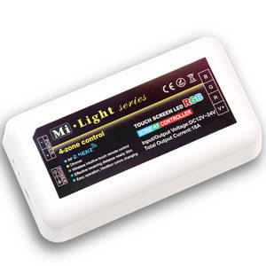 Контроллер 12V RGB для светодиодной ленты Mi-light 216Вт 18А-2.4G-4 zone белый, фото 2