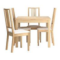 Стол BJURSTA / BÖRJE и 4 стула IKEA