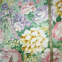 Тик с крупными разноцветными цветами, фото 1