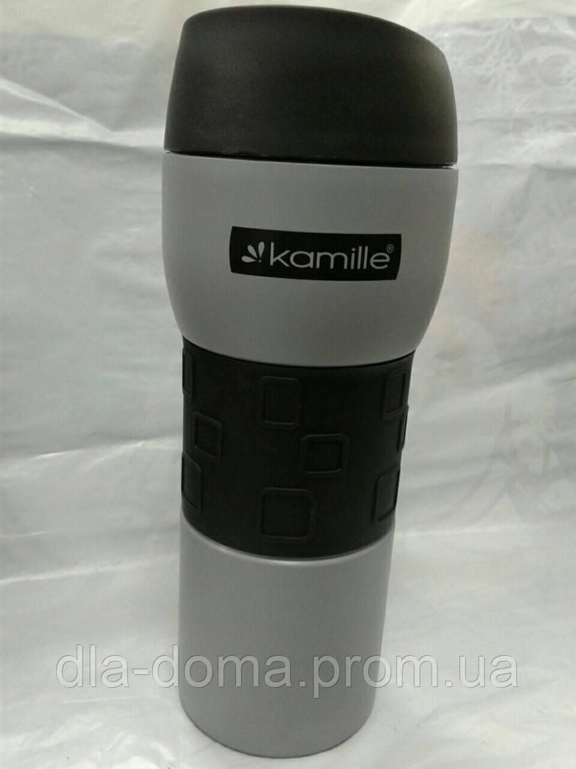 Термокружка Kamille 420мл серая