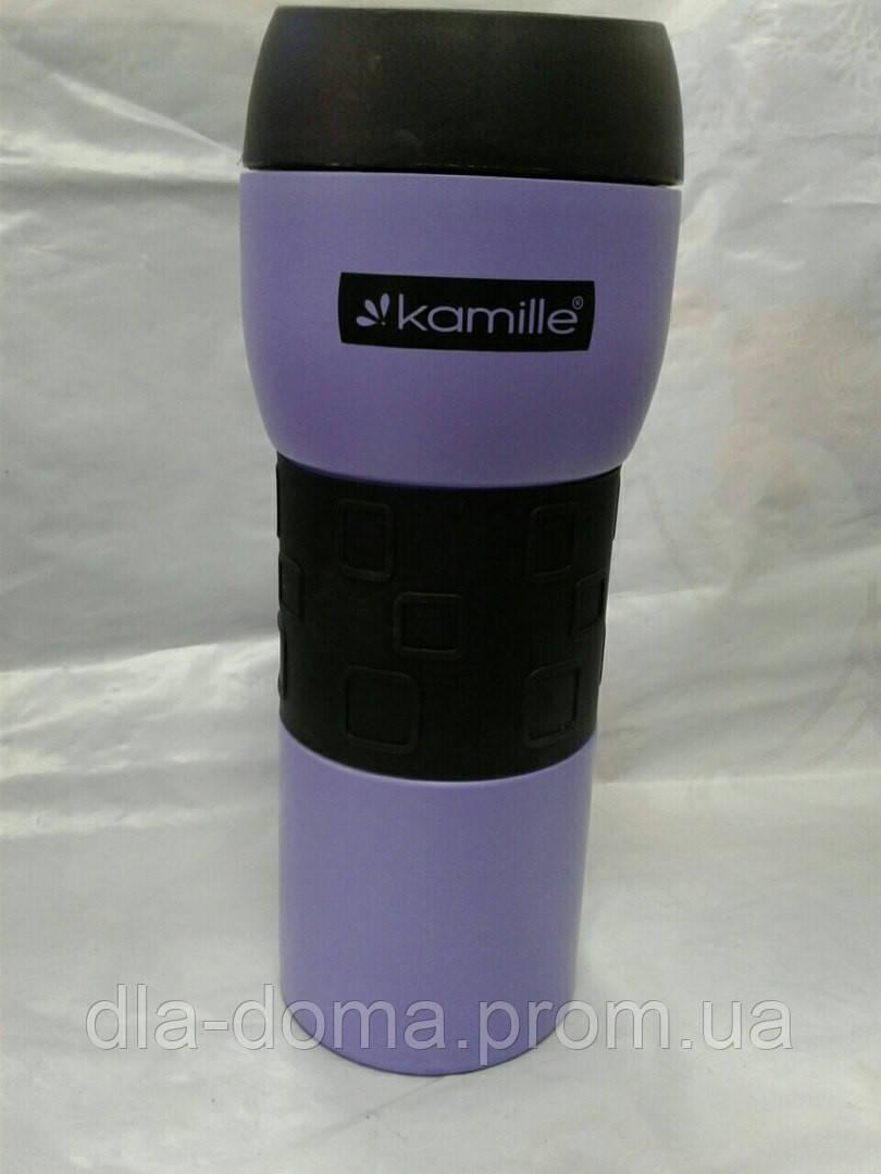 Термокружка Kamille 420мл фиолетовый