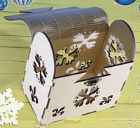 Деревянная шкатулка, подарочная упаковка, упаковка для новогодних подарков, фото 5