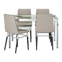 Стол GLIVARP / PREBEN и 4 стула IKEA