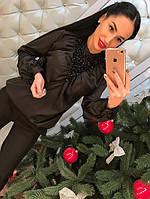 Блузка женская с бисером на груди