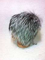 Женская меховая шапка из чернобурки