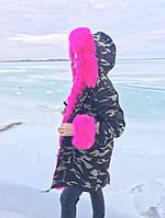 Женская Парка с опушкой и манжетами из меха Лисы 23 варианта Москва На стиле #3