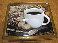 Оригинальный деревянный поднос на подушке Чашка кофе подарок на 14 февраля
