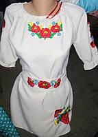 Вышитое детское платье Маки